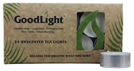 GoodLight Natural Candles - Tea Lights Unscented - 24 Count (680443010066)