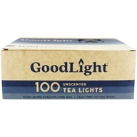 GoodLight Natural Candles - Tea Lights Unscented - 100 Count by GoodLight Natural Candles