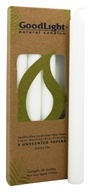 GoodLight Natural Candles - 10 Inch Tapers Unscented - 4 Count by GoodLight Natural Candles