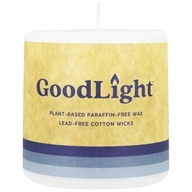 "Image of GoodLight Natural Candles - Pillar Unscented - 3"" x 3"""