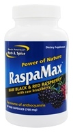 North American Herb & Spice - Power of Nature RaspaMax Berry Blend - 60 Vegetarian Capsules (635824005971)