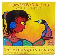The Algonquin Tea Co. - 100% Certified Organic Herb Homestead Tea Blend - 24 Tea Bags
