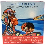The Algonquin Tea Co. - 100% Certified Organic Herb Sacred Tea Blend - 24 Tea Bags (628240985064)
