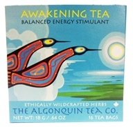 The Algonquin Tea Co. - 100% Certified Organic Herb Awakening Tea - 16 Tea Bags (628240986054)
