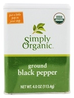 Simply Organic - Ground Black Pepper - 4 oz. (089836194954)