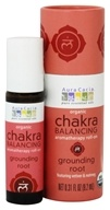 Aura Cacia - Organic Chakra Balancing Aromatherapy Roll-On Grounding Root - 0.31 oz.