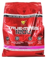 BSN - True-Mass 1200 Ultra-Premium Super Mass Gainer Strawberry Milkshake - 10.25 lbs. by BSN