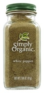 Simply Organic - White Pepper - 2.86 oz. (089836180414)