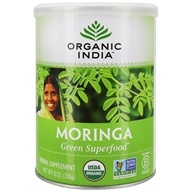 Image of Organic India - Moringa Leaf Powder Essential Nutrition - 8 oz.