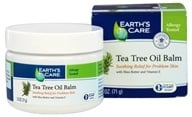 Earth's Care - Tea Tree Oil Balm with Shea Butter and Vitamin E - 2.5 oz. (857307003599)