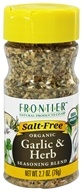 Frontier Natural Products - Organic Garlic & Herb Seasoning Blend - 2.7 oz. (089836194817)