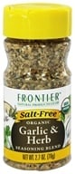 Frontier Natural Products - Organic Garlic & Herb Seasoning Blend - 2.7 oz. - $4.18