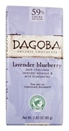 Image of Dagoba Organic Chocolate - Bar Dark Chocolate Lavender Blueberry 59% Cacao - 2.83 oz.