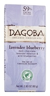 Dagoba Organic Chocolate - Bar Dark Chocolate Lavender Blueberry 59% Cacao - 2.83 oz.