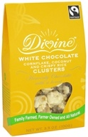 Divine - White Chocolate Cornflake, Coconut and Crispy Rice Clusters - 3.5 oz.