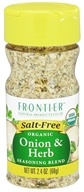Image of Frontier Natural Products - Organic Onion & Herb Seasoning Blend - 2.4 oz.