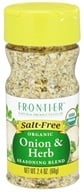 Frontier Natural Products - Organic Onion & Herb Seasoning Blend - 2.4 oz.