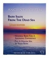 Ancient Secrets - Dead Sea Mineral Bath Salts Unscented - 1 lb.