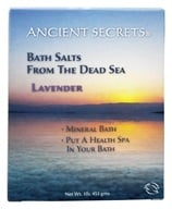 Image of Ancient Secrets - Dead Sea Mineral Bath Salts Lavender - 1 lb.