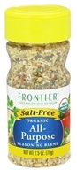 Image of Frontier Natural Products - Organic All-Purpose Seasoning Blend - 2.5 oz.