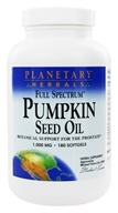 Planetary Herbals - Full Spectrum Pumpkin Seed Oil Prostate Support 1000 mg. - 180 Softgels
