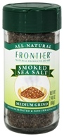 Image of Frontier Natural Products - All-Natural Smoked Sea Salt Medium Grind - 2.4