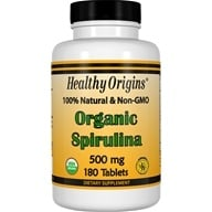 Image of Healthy Origins - Organic Non-GMO Spirulina 500 mg. - 180 Tablet(s)