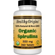 Healthy Origins - Organic Non-GMO Spirulina 500 mg. - 360 Tablet(s), from category: Nutritional Supplements