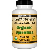 Healthy Origins - Organic Non-GMO Spirulina 500 mg. - 720 Tablet(s), from category: Nutritional Supplements