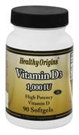 Healthy Origins - Non-GMO Vitamin D3 1000 IU - 90 Softgels (603573153137)