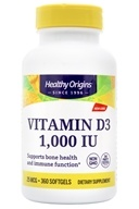 Image of Healthy Origins - Non-GMO Vitamin D3 1000 IU - 360 Softgels