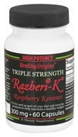 Image of Healthy Origins - Razberi-K Triple Strength Raspberry Ketones 300 mg. - 60 Capsules