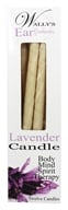 Wally's Natural Products - Paraffin Multi-Purpose Hollow Candles Lavender - 12 Pack