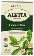 Alvita - Organic Green Tea - 24 Tea Bags by Alvita