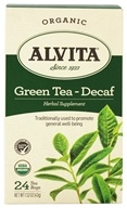 Alvita - Organic Green Tea Decaf - 24 Tea Bags by Alvita