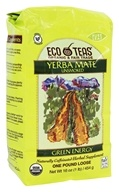 Eco Teas - Yerba Mate Unsmoked Green Energy Loose Tea - 16 oz.