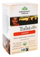Organic India - Tulsi Tea Stress-Relieving & Uplifting Ginger - 18 Tea Bags