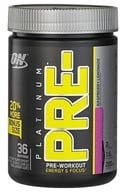 Image of Optimum Nutrition - Platinum Pre-Workout Energy & Focus Bonus Size Raspberry Lemonade - 288 Grams