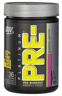 Optimum Nutrition - Platinum Pre-Workout Energy & Focus Bonus Size Raspberry Lemonade - 288 Grams - $29.59