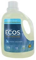 Image of Earth Friendly - ECOS 2X Ultra All Natural Laundry Detergent Free & Clear - 170 oz.