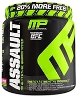 Image of Muscle Pharm - Assault Athletes Pre-Workout System Bonus Size Raspberry Lemonade - 1.15 lbs.