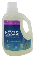 Image of Earth Friendly - ECOS 2X Ultra All Natural Laundry Detergent Lavender - 170 oz.