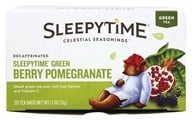 Celestial Seasonings - Sleepytime Decaf Green Tea Blackberry Pomegranate - 20 Tea Bags