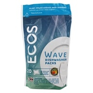 Earth Friendly - Wave Automatic Dishwasher Detergent Free & Clear - 20 Pouches