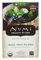 Numi Organic - Pu-erh Tea Basil Mint - 16 Tea Bags, from category: Teas