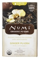 Numi Organic - Pu-erh Tea Ginger - 16 Tea Bags, from category: Teas