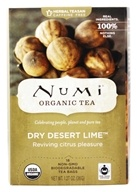 Numi Organic - Herbal Tea Dry Desert Lime - 18 Tea Bags ...