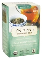 Numi Organic - Simply Green Tea Decaf - 16 Tea Bags, from category: Teas
