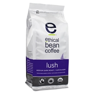 Ethical Bean Coffee - Organic Medium Roast Whole Bean Lush - 12 oz.