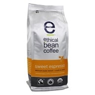 Ethical Bean Coffee - Organic Medium Dark Roast Whole Bean Sweet Espresso - 12 oz.